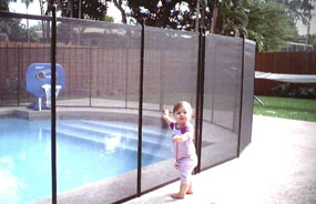 vacation rental home pool fence